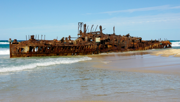 Fraser Island, Shipwreck of Maheno (ship, 1905)
