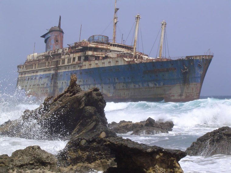The-wreckage-of-the-American-Star-SS-America-seen-from-land-side-Fuerteventura-Canary-Islands